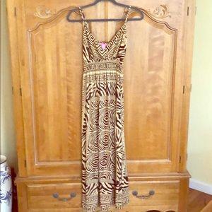 Dresses & Skirts - Beautiful Maxi Dress in Zebra Print, Size M